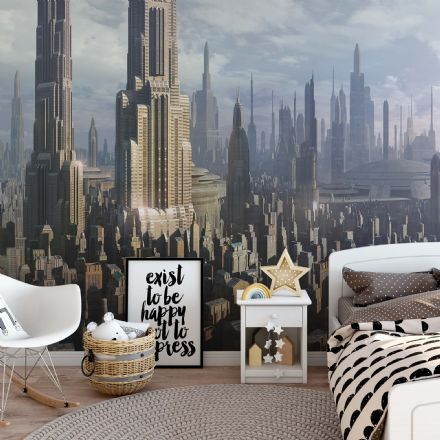 Star Wars Coruscant wallpaper mural